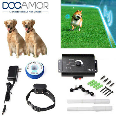 Wireless Electric Pet Fence Containment System Transmitter Collar for Two Dogs