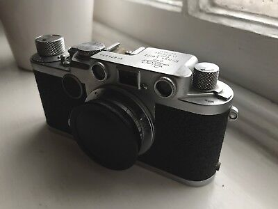 Leitz Leica IIf Red Dial 35mm Camera Body with Russian Lens