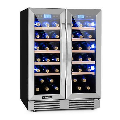 Wine cooler Refrigerator Fridge 42 Bottles 126L Cooling Drinks Chiller Bar Shop