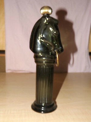 Tall large avocado green knight horse after shave Avon empty decanter bottle