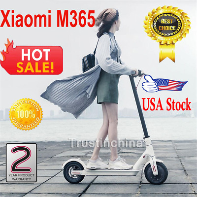 Xiaomi M365 Electric Scooter, Foldable 15.5mph, 18 miles Autonomy APP, Lights