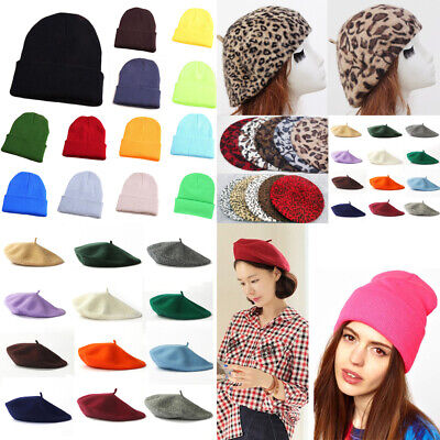b7aedd57c AKIZON MILITARY HAT Caps Beret Winter Hats For Women Men Pu Leather ...