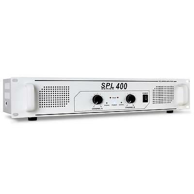 Skytec Spl400 Watt Dj Pa Power Amplifier Amp White