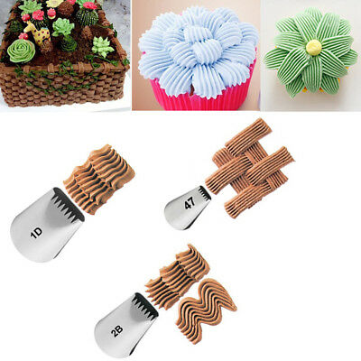 1/3x Russian Pastry Cake Icing Piping Nozzles Flower Decor Tips Baking Tools New