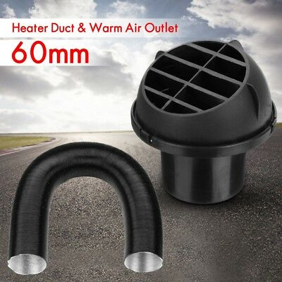 60MM Car Warm Air Vent Outlet + Heater Duct Pipe For Diesel Webasto Eberspacher
