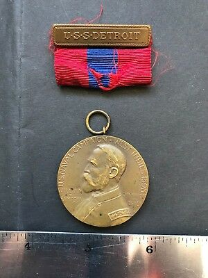 Spanish American War 1898 Sampson Medal, USS Detroit, San Juan PR, May 12