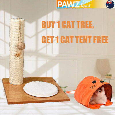 42CM Pet Cat Scratching Post Tree Pole Gym Activity Furniture Summer Toy Tent