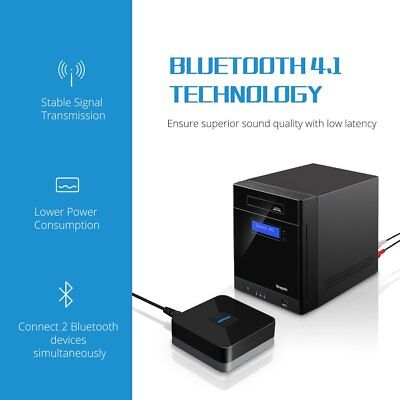 Mpow Wireless Bluetooth 4.1 Receiver Stereo Audio Adapter 3.5mm Music RCA Home