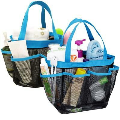 YuCool 2 Pack Portable Mesh Shower Caddy with 8 Storage Pockets, Hanging Tote