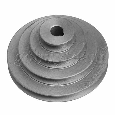 16mm Bore Outer Dia 44-130mm 4 Step A-Shaped V Belt Pagoda Pulley Belt