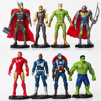 8 Figuren Marvel Avengers Ultron Avenger Set Hulk Ironman Captain America