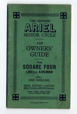 Ariel Square Four 1000 1938 manuale uso moto originale owner's manual