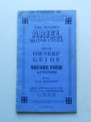 Ariel Square Four 1933-36  manuale uso moto originale owner's manual