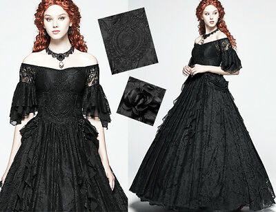 Off Shoulder Ball Gown Dress Gothic Wedding Victorian Lace Corset Retro PunkRave