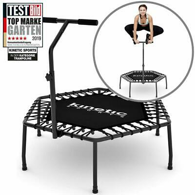 Kinetic Sports Mini-Trampolin Fitness Hexagon Sechseckig mit Griff Indoor