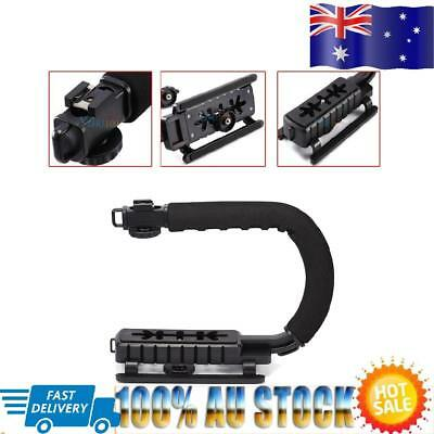 C/U Shape Bracket Grip Portable Video Handheld Camera Stabilizer ABS Black HOT