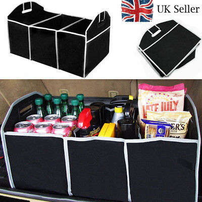 2 in 1 Foldable Collapsible Car Boot Organiser Heavy Shopping Tidy Storage UK