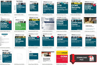 Collection 26 Book Cisco CCNA CCNP CCIE CCENT Study Guides CISCO Format PDF HD