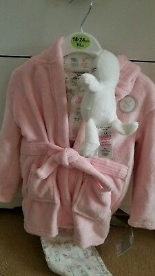 Toddlers 3 piece  Dressing Gown, Pyjamas And Teddy