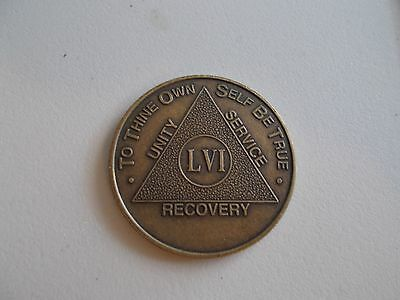 AA Bronze Alcoholics Anonymous  56 year coin medallion
