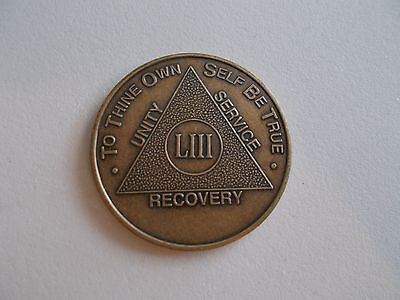 AA Bronze Alcoholics Anonymous 53 year coin medallion
