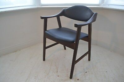 Stunning Vintage Danish Teak Desk Chair