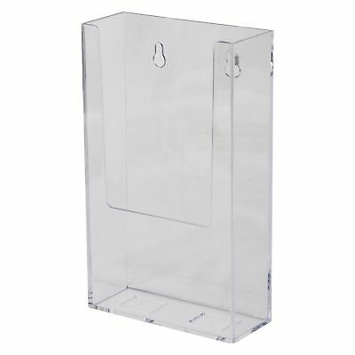 Clear-Ad - LHW-M141 - Acrylic Wall Mount Brochure Holder 4x9 - Perfect for