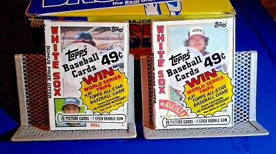 1984 Unopened Baseball Cards (2) Cello Packs - Chicago White Sox - Free Shipping