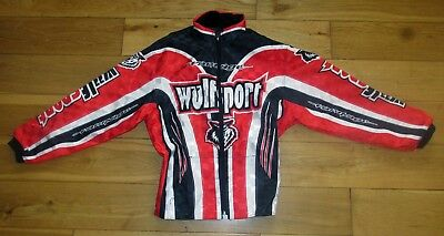 Adult Wulfsport Quad Karting Wulf MX Rampage Ride Jacket Red Small Clearance