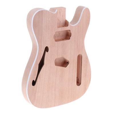 Unfinished Guitar Body DIY Luthier Tool for Telecaster Electric Guitar