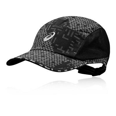25827bb57a4 Asics Unisex Performance Lyte Cap Black Sports Running Breathable Reflective