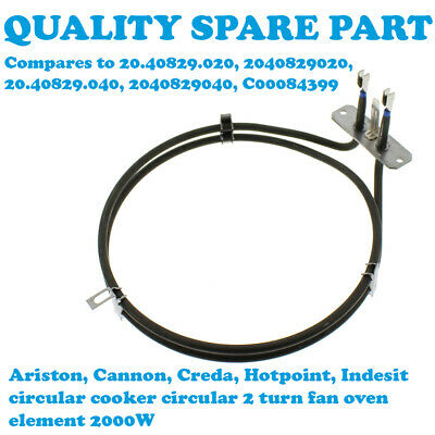Fan Oven Element for Hotpoint Cannon Creda Indesit Cooker 6204370 082605135 ELE1