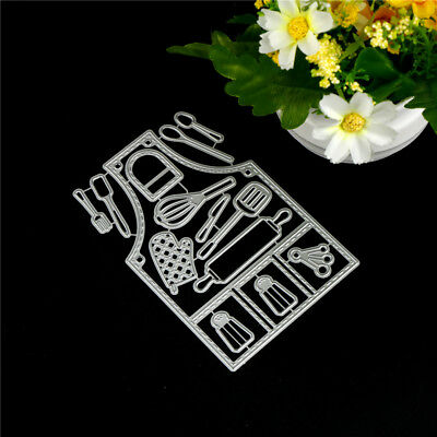 14 pcs Kitchen Tools Metal Cutting Dies For DIY Scrapbooking Album Paper Card PD