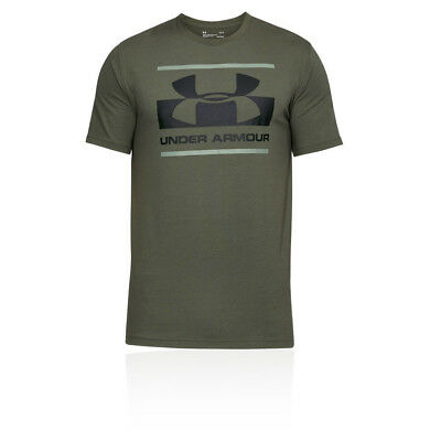 Under Armour Mens UA Blocked Sportstyle Logo T Shirt Tee Top Green Sports Gym