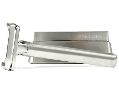 Award Winning OneBlade Genesis Stainless Steel Single Edge Safety Razor & Stand