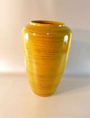 Tolle große Vase in gelb - BAY - Vase - Vintage - West-Germany 638-30