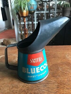 Vintage 1 Pint SMITHS BLUECOL ANTI FREEZE Very Rare Advertising Can 50's OIL CAN