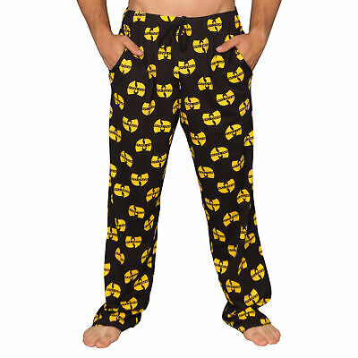 Adult Unisex Wu Tang Clan Logo Yellow and Black Lounge Pants