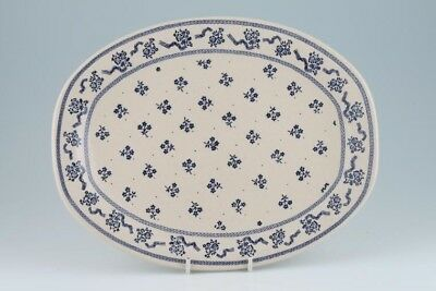 Laura Ashley - Petite Fleur - Blue - Oval Plate / Platter - 77677Y