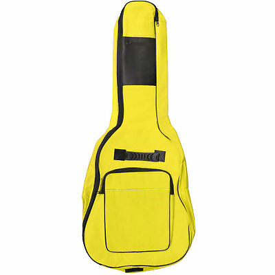 Full Size Padded  Protective  Acoustic Guitar Back Bag Carry CaseHolder Yellow