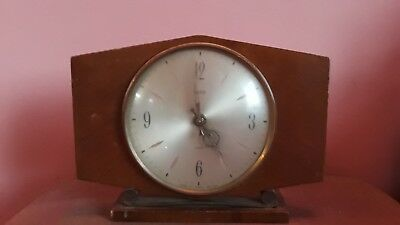 VINTAGE 1950's/1960's SMITHS 8 DAY FLOATING BALANCE MECHANICAL MANTLE CLOCK