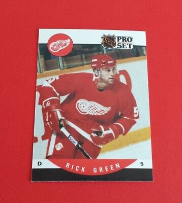 1990/91 Pro Set Hockey Rick Green Card #436***Detroit Red Wings***