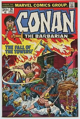 Conan The Barbarian #26 NM White Pages 1970 Series