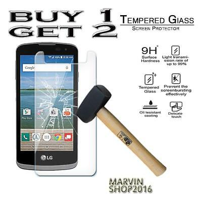 Genuine Tempered Glass Film Screen Protector Cover For LG Optimus Zone 3