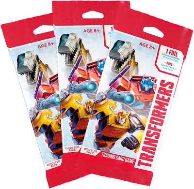 Transformers Trading Card Game (TCG) - 3 x Booster Packs (New & Sealed)