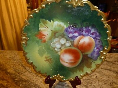 Antique LRL Limoges Charger Plate, Great, Signed R Rit