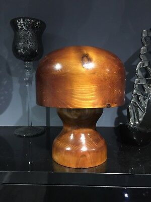 Reproduction (antique type) Wooden Hat Block / Wig Stand / Hat Stand.
