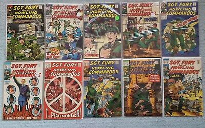 Sgt. Fury and his Howling Commandos - Lot of 10, #56-65 1968
