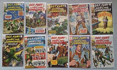 Sgt. Fury and his Howling Commandos - Lot of 10, #66-75,  1968