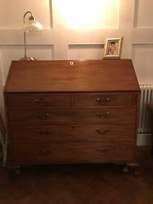 Writing bureau. Antique writing desk. 5 draws